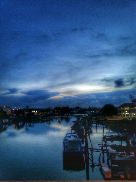 sunset on mersing