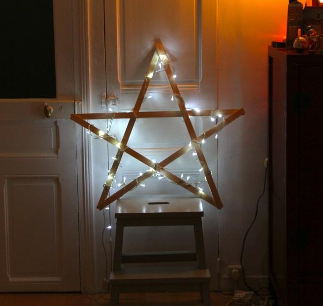 diy étoile lumineuse 3