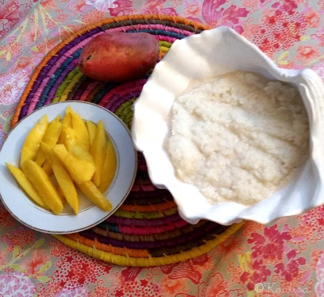 riz gluant coco mangue
